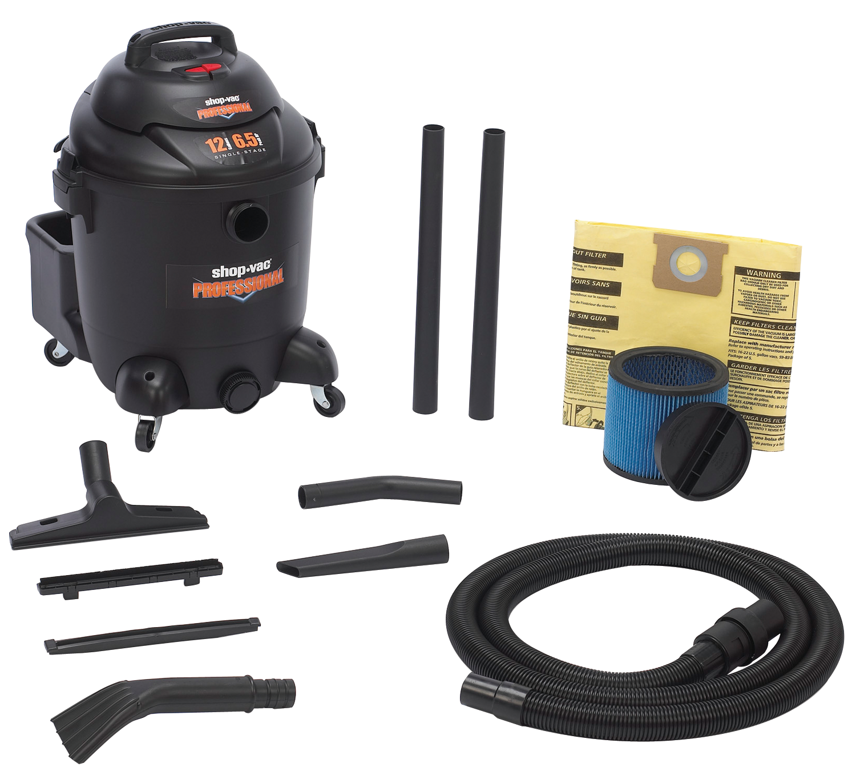 Vacuum 12 Gallon 6.5 Php Wet/Dry Utility