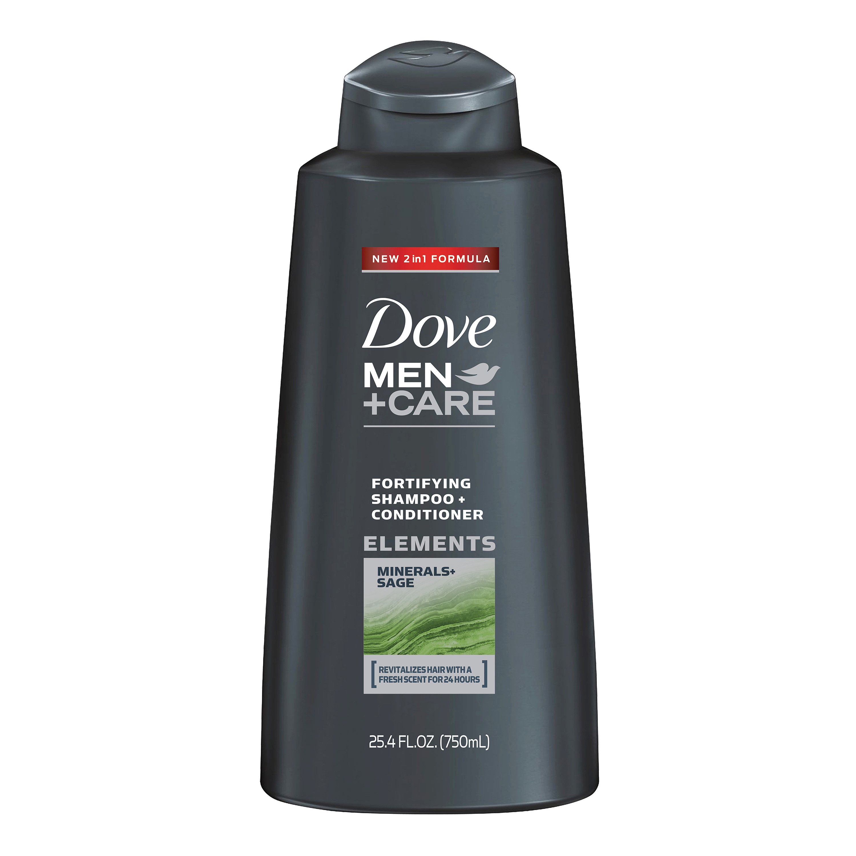 Dove Men+Care Shampoo and Conditioner, Minerals & Sage, 25.4 Oz