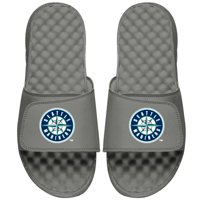 Seattle Mariners ISlide Youth Primary Logo Slide Sandals - Gray