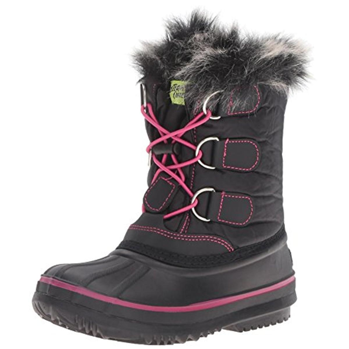 Western Chief Girls Arcterra Ex Contrast Trim Water Resistant Snow Boots