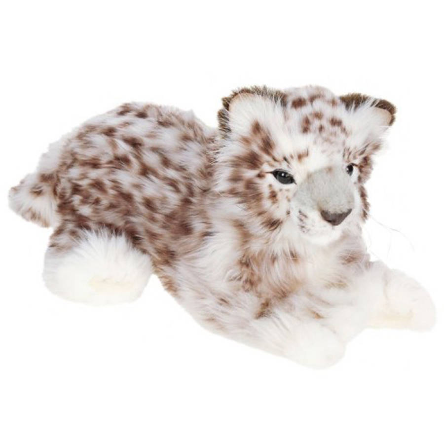 Hansa Laying Snow Leopard Plush Toy