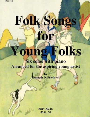 Folk Songs for Young Folks Bassoon and Piano by
