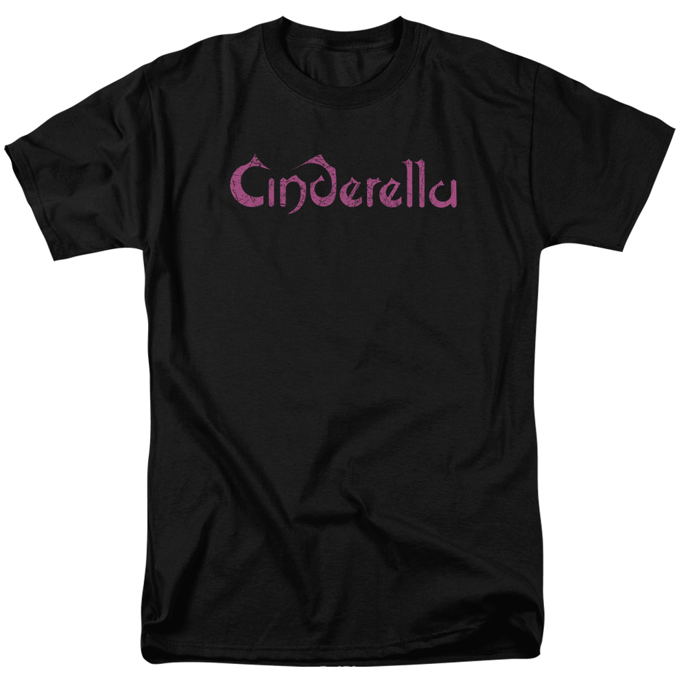 Cinderella/Logo Rough S/S Adult 18/1 Black   Cin101