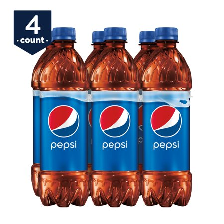 (4 Pack) Pepsi Soda, 16.9 fl oz Bottles, 6 Count ()