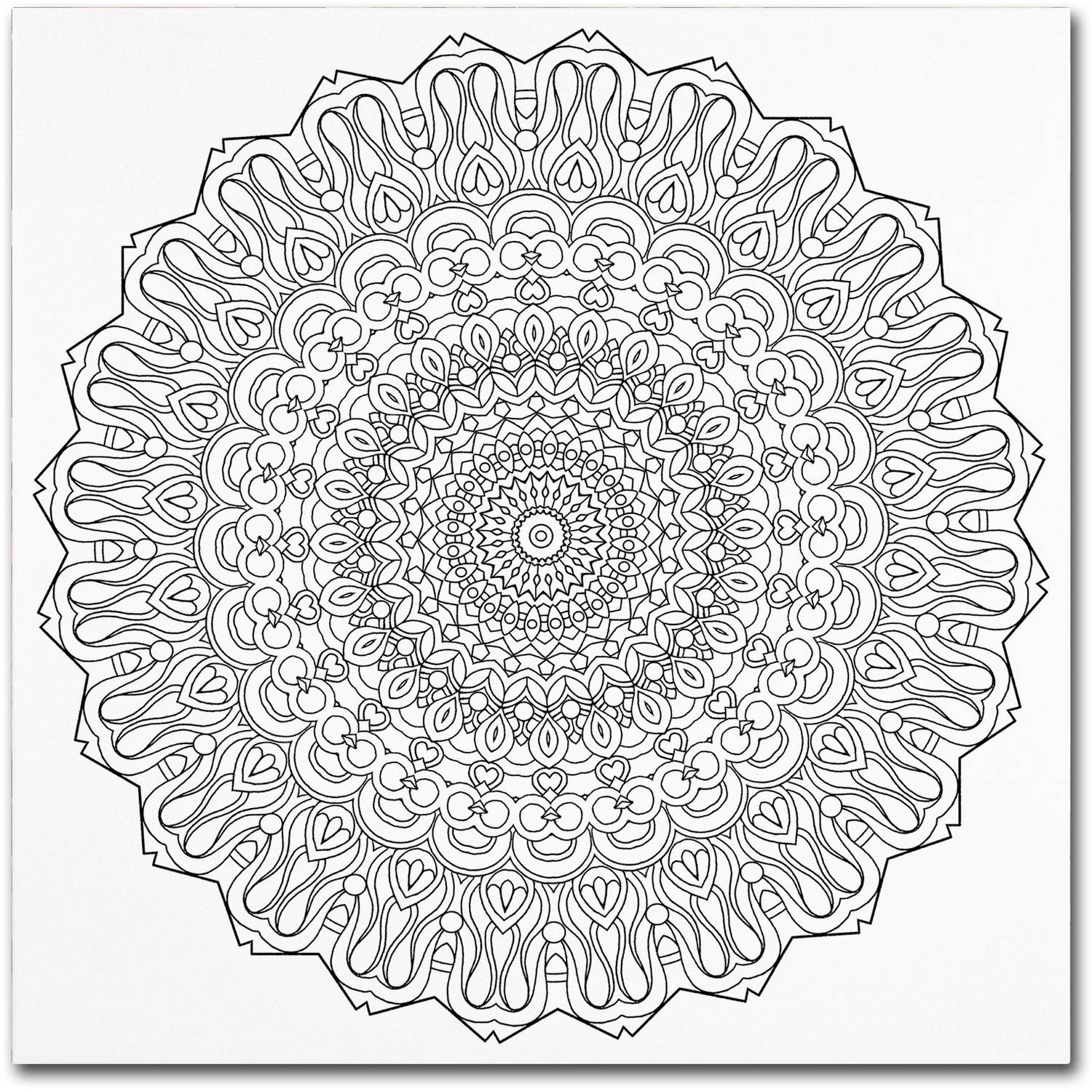 Trademark Global LLC Trademark Fine Art Mixed Coloring Book 38 Canvas Art by Kathy G. Ahrens
