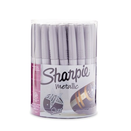 Sharpie Permanent Markers, Fine Point, Silver, Pack of - Sharpie Markers Pack