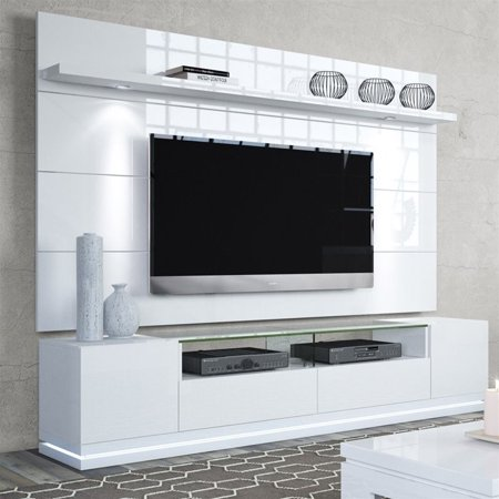 Manhattan Comfort 85 Quot Tv Stand And Panel In White