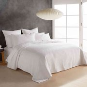 DKNY Stonewashed Matelasse Queen Coverlet in White