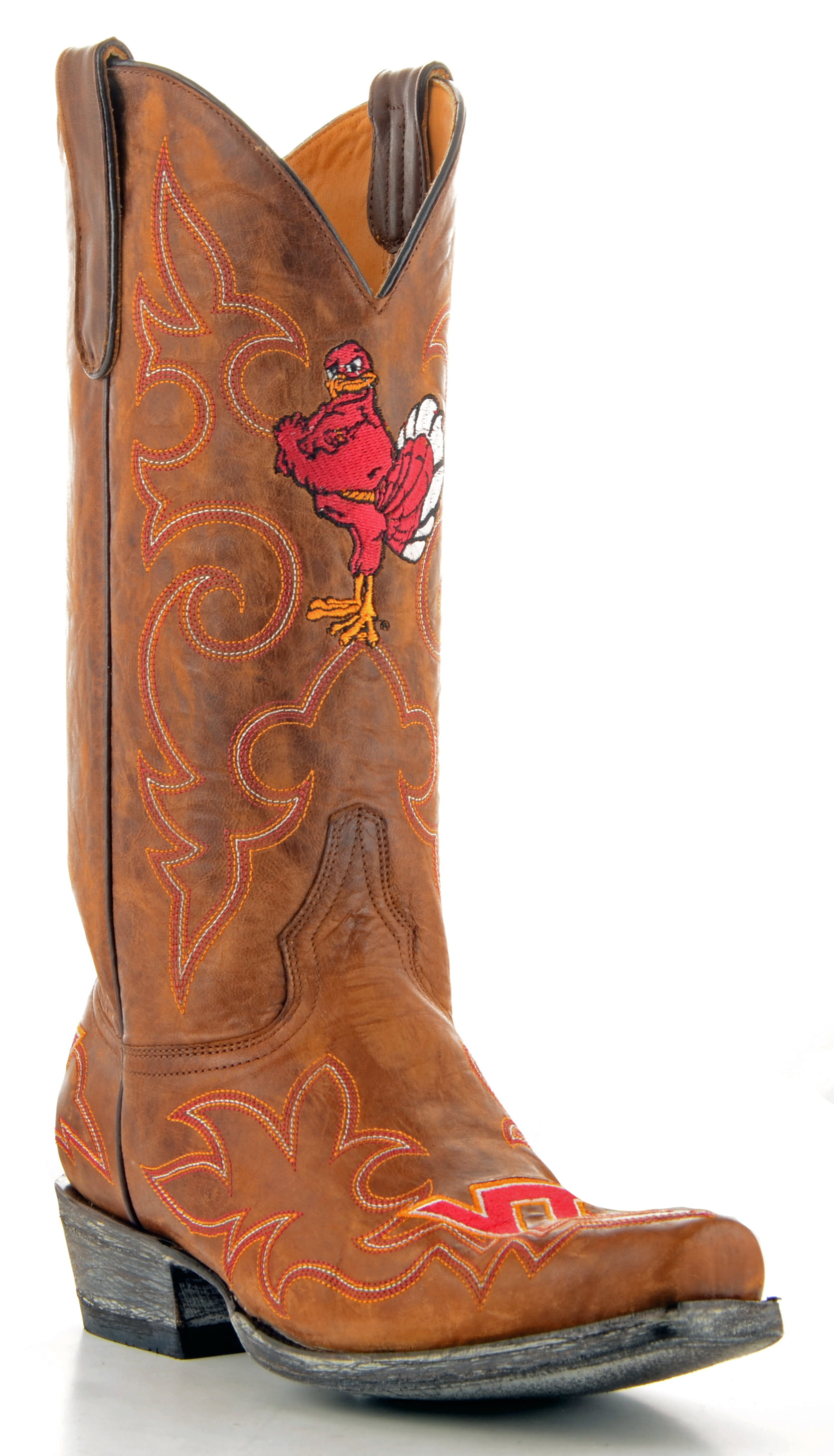 Gameday Boots Mens Leather Virginia Tech Cowboy Boots by GameDay Boots