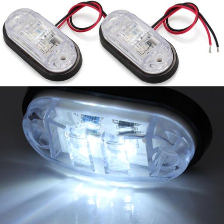 2x Car Truck Trailer Piranha LED Side Marker Blinker Light Bulb White 12V - 24V
