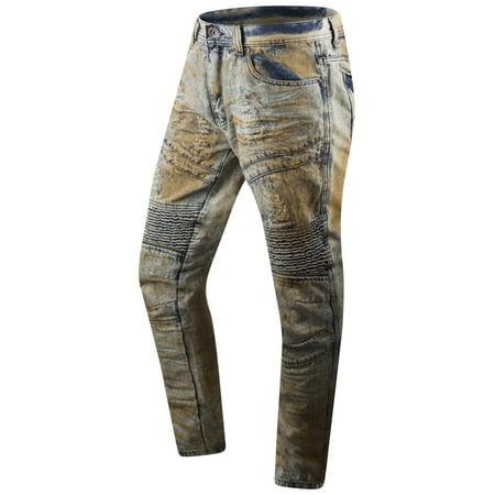 New Men Premium Biker Denim Jeans