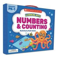 Scholastic Learning Mats Kit, Numbers, 70 Cards, Ages 3 and Up