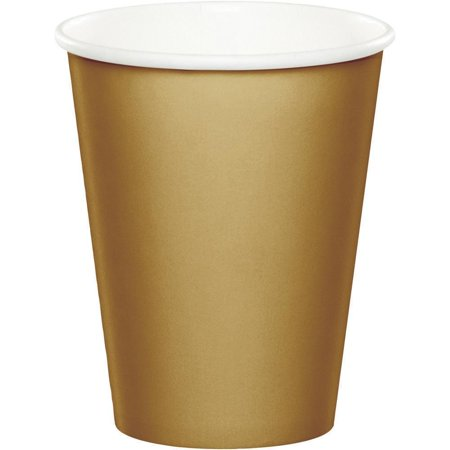 Gold Breakfast Cup (Creative Converting Glittering Gold Hot/Cold Paper Cups 9 Oz., 8 ct )