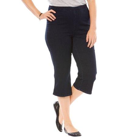 b3c5d91056763 Woman Within - Plus Size Pedal Pusher Fineline Jean - Walmart.com