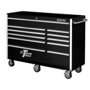 "56"" 11 Drawer Professional Roller Cabinet - Black"