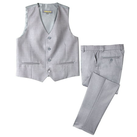 Lined Two Button Suit - Spring Notion Big Boys' Two Button Suit, Light Grey
