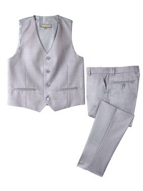 e442edf62 Product Image Spring Notion Big Boys' Two Button Suit, Light Grey