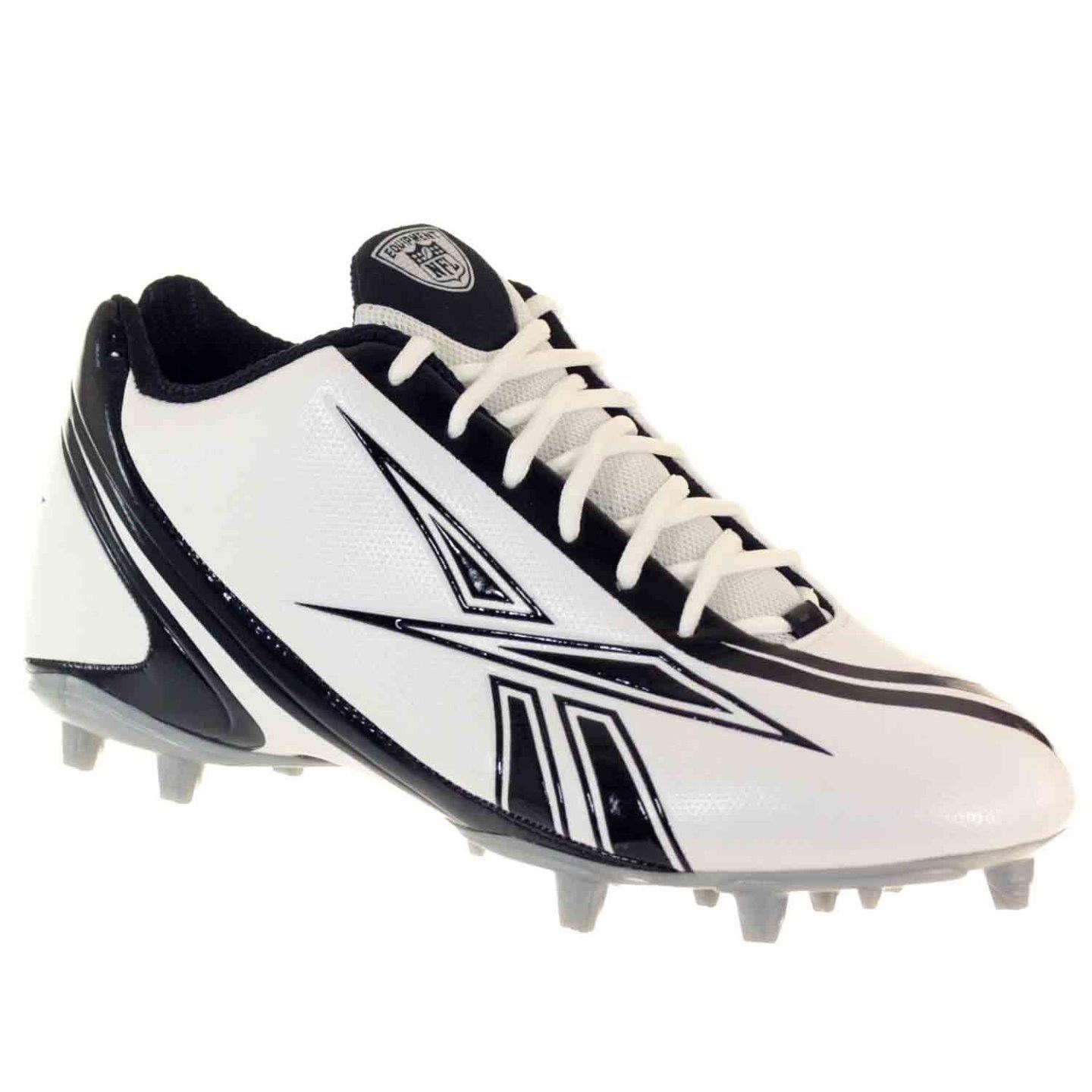 REEBOK PRO BURNER SPEED 5/8 M3 MENS FOOTBALL CLEATS WHITE BLACK 12