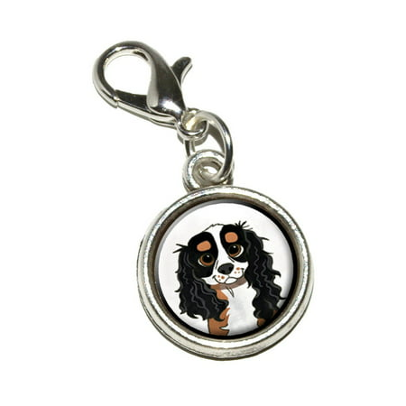 Cavalier King Charles Tri Color Bracelet Charm (Cavalier King Charles Colors)