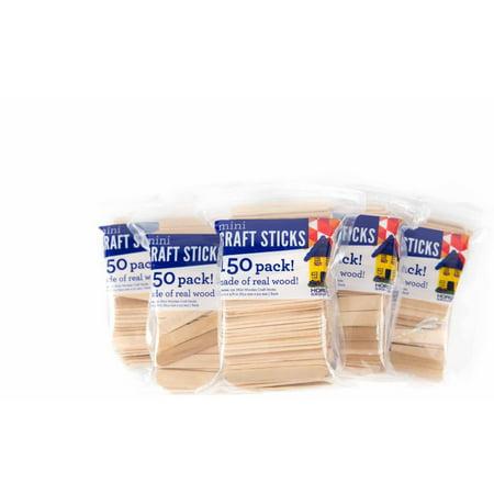 Mini Craft Sticks, 6PKS - 150 ct. Each by Horizon Group USA