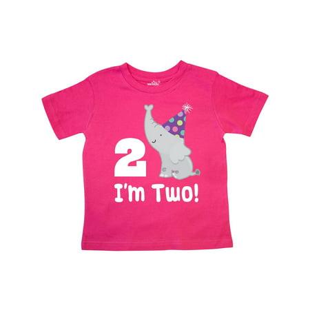 Happy 2nd Birthday Zoo Elephant Toddler T Shirt