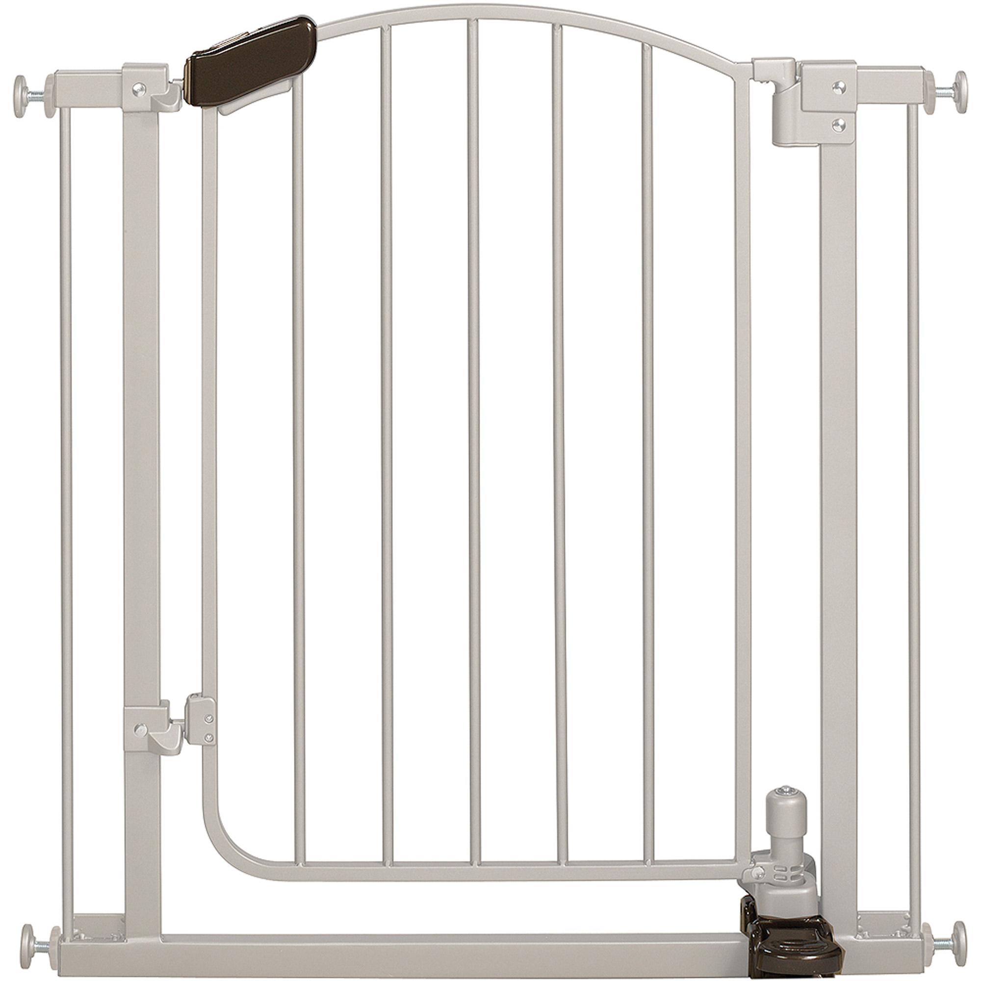 Summer Infant Stylish and Secure Step to Open Gate, Silver
