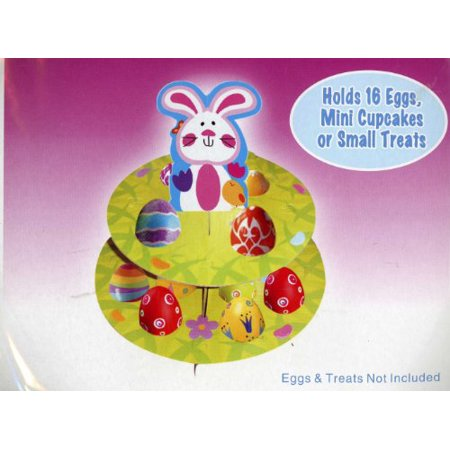 Easter Bunny Treat Stand Holds 16 Eggs, Mini Cupcakes or Small Treats