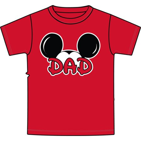 Men's Mickey Mouse Dad Fan T Shirt (SMALL)    W54 - Mickey And Minnie Halloween Costume Ideas