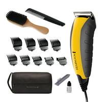 Remington Virtually Indestructible Barbershop Clipper, 15-piece Haircut Kit, Yellow, HC5855