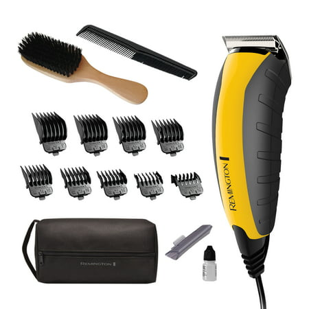 Haircutting Clipper - Remington Virtually Indestructible Barbershop Clipper, 15-piece Haircut Kit, Yellow, HC5855