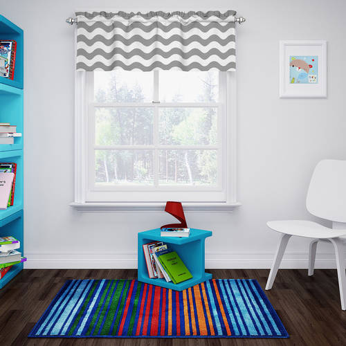 Eclipse Thermaback Blackout Wavy Chevron Valance by Ellery Homestyles