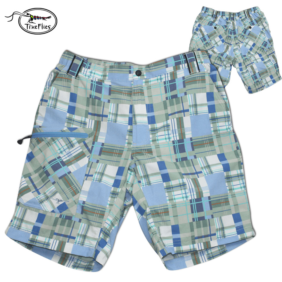 TrueFlies Captiva Air Lite II Short (L)- Patchwork Madras