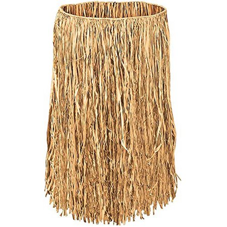 Hawaiian Hula Dancer Islander Synthetic Grass Skirt Costume Accessory](Air Dancers Halloween)