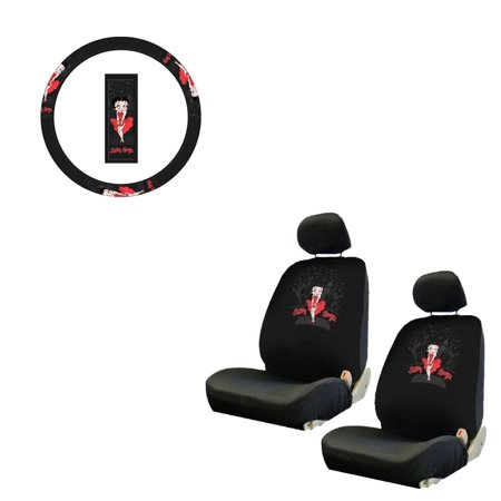 Betty Boop 2 Seat Covers And Wheel Cover