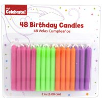 Product Image 4 Pack Way To Celebrate Bulk Candles 48 Count Fluorescent Colors