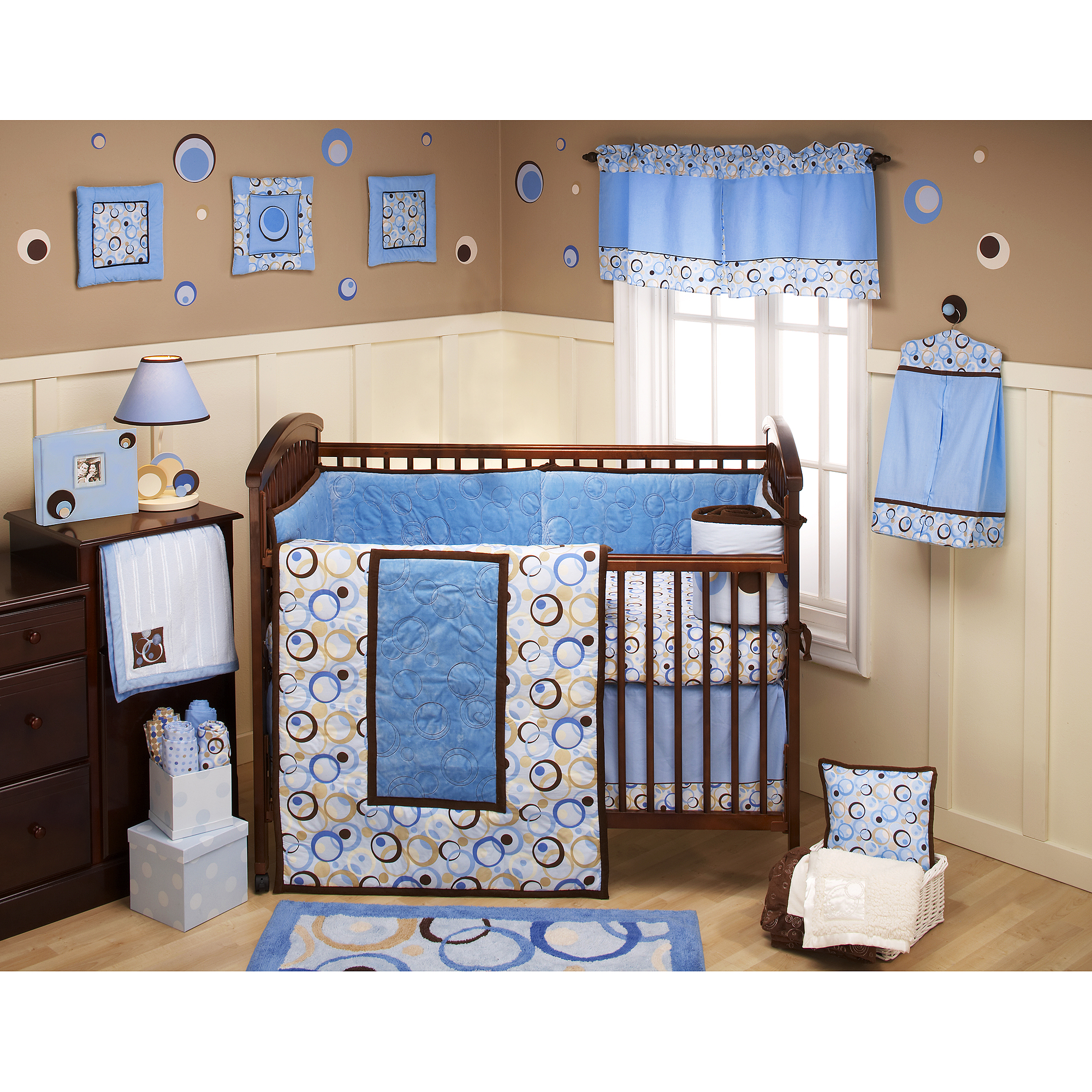 George Baby - Uptown 4-Piece Crib Bedding Set, Blue