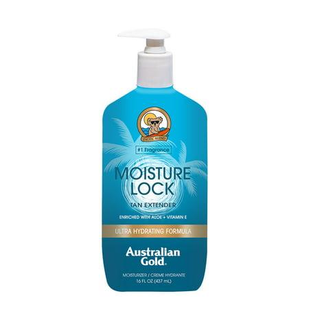 Australian Gold Moisture Lock Tan Extender w/ Aloe & Vitamin E, 16 FL