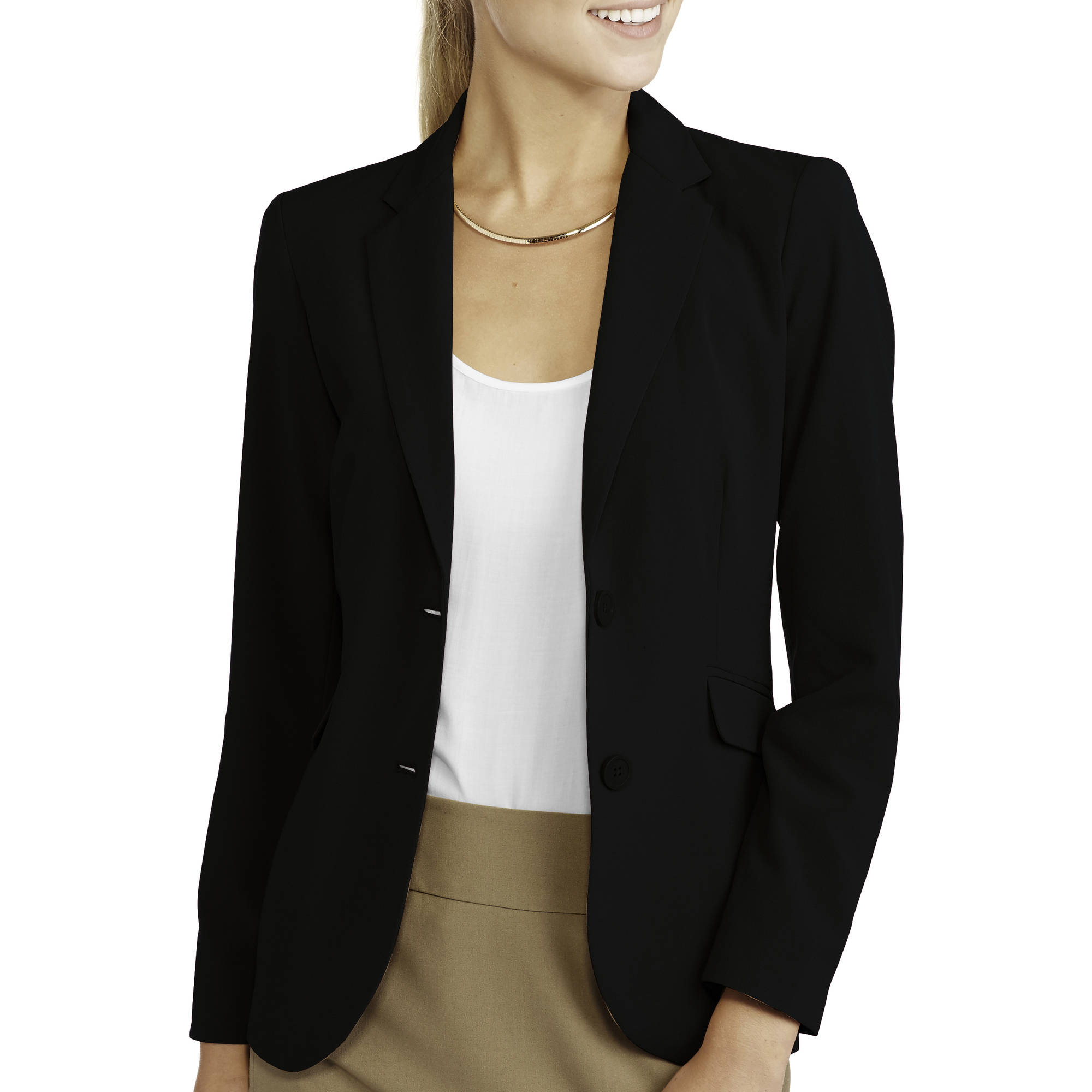 George Women's Plus-Size Classic Career Blazer