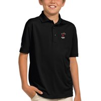 Miami Heat Antigua Youth Pique Desert Dry X-tra Lite Polo - Black