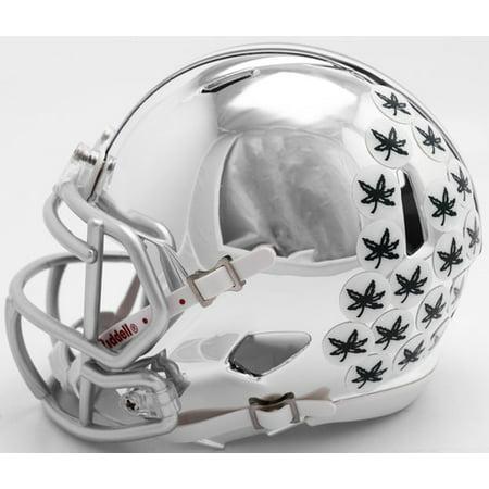 Ohio Helmet - Ohio State Buckeyes Helmet Riddell Replica Mini Speed Style Chrome Alternate