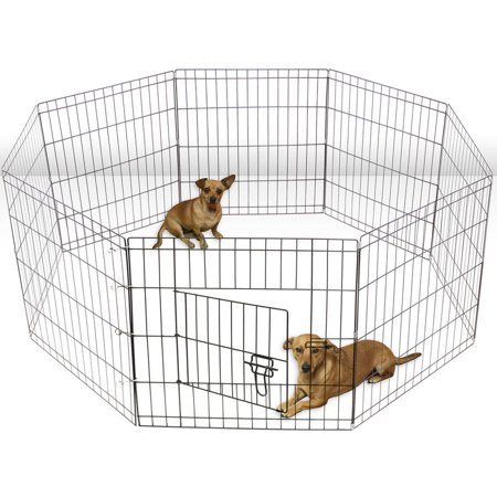 Oxgord Large Wire 8-Panel Pop-Up Folding Kennel Fence Tent, 2015 Design