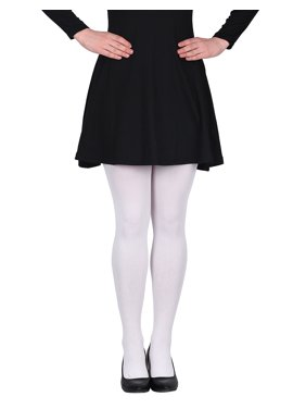 HDE Women's Solid Color Stockings Opaque Microfiber Footed Tights