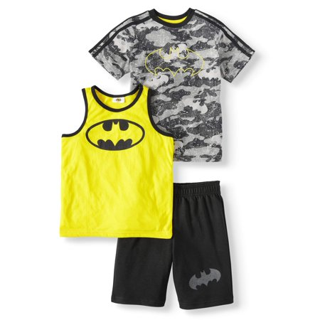 Batman Camo Print, 3-Piece Outfit Set (Little Boys) for $<!---->