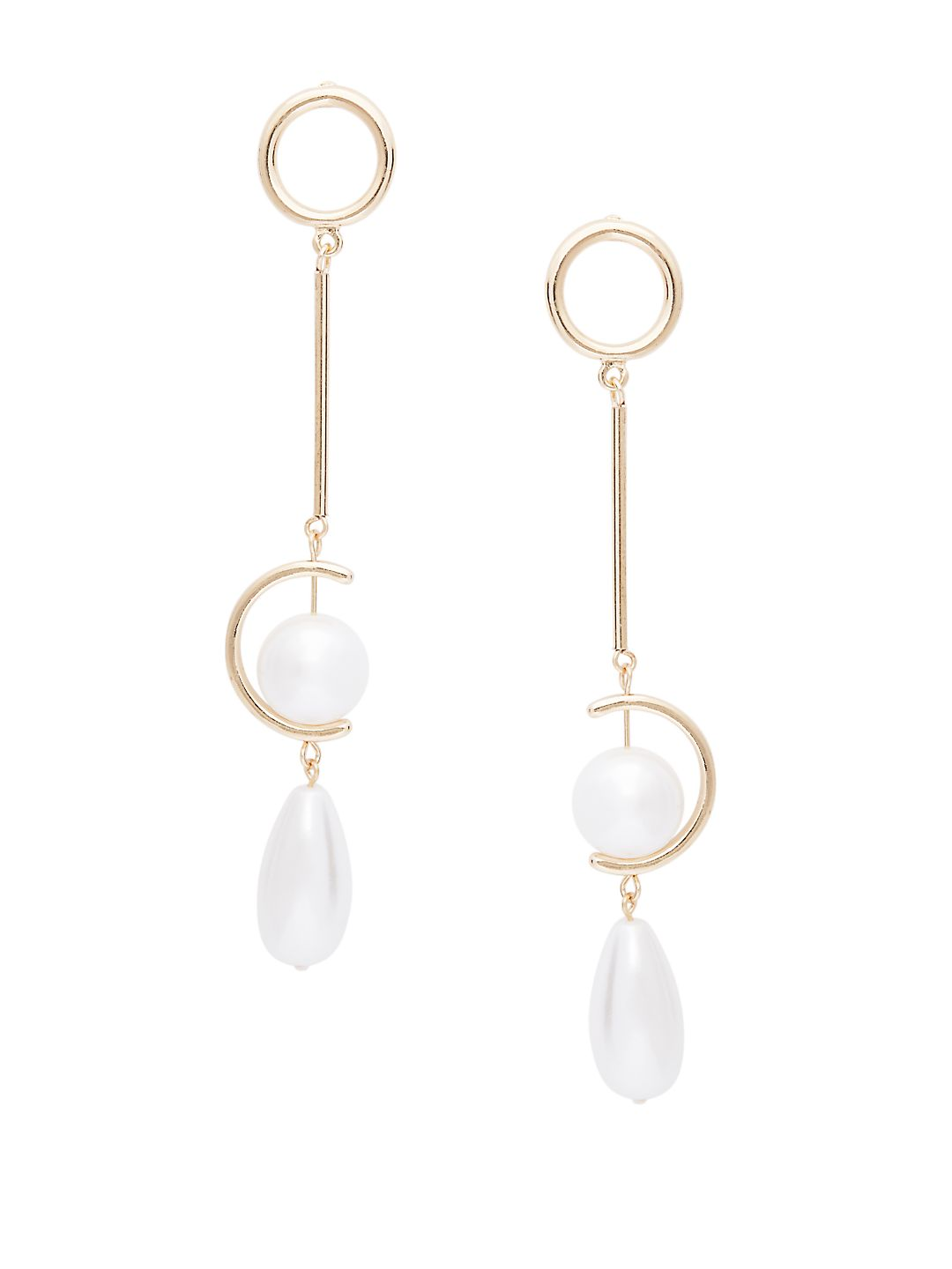 Sterling Silver & Faux Pearl Mismatched Earrings