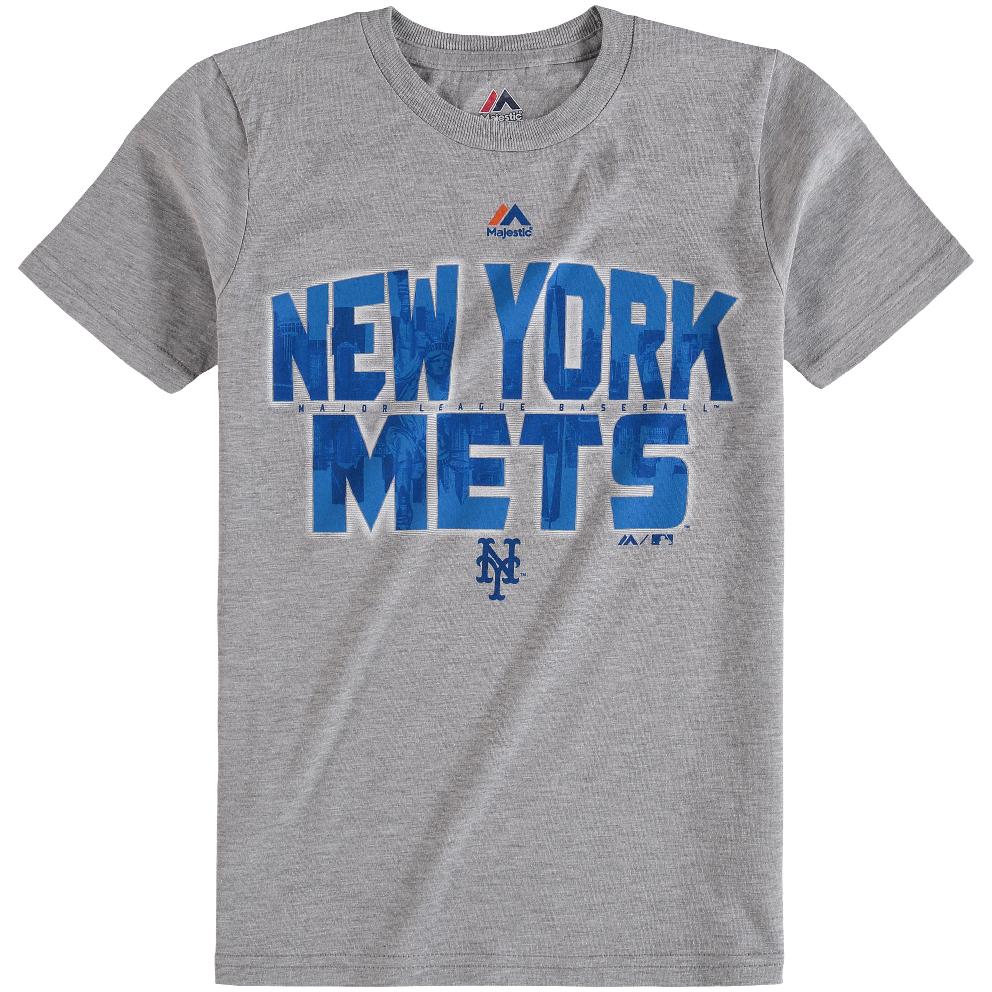 New York Mets Majestic Youth Big City T-Shirt - Gray