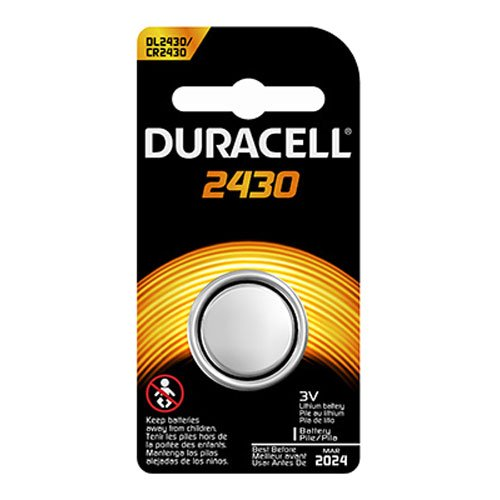 DL-2430B Long-Life Lithium Button Cell Battery By Duracell