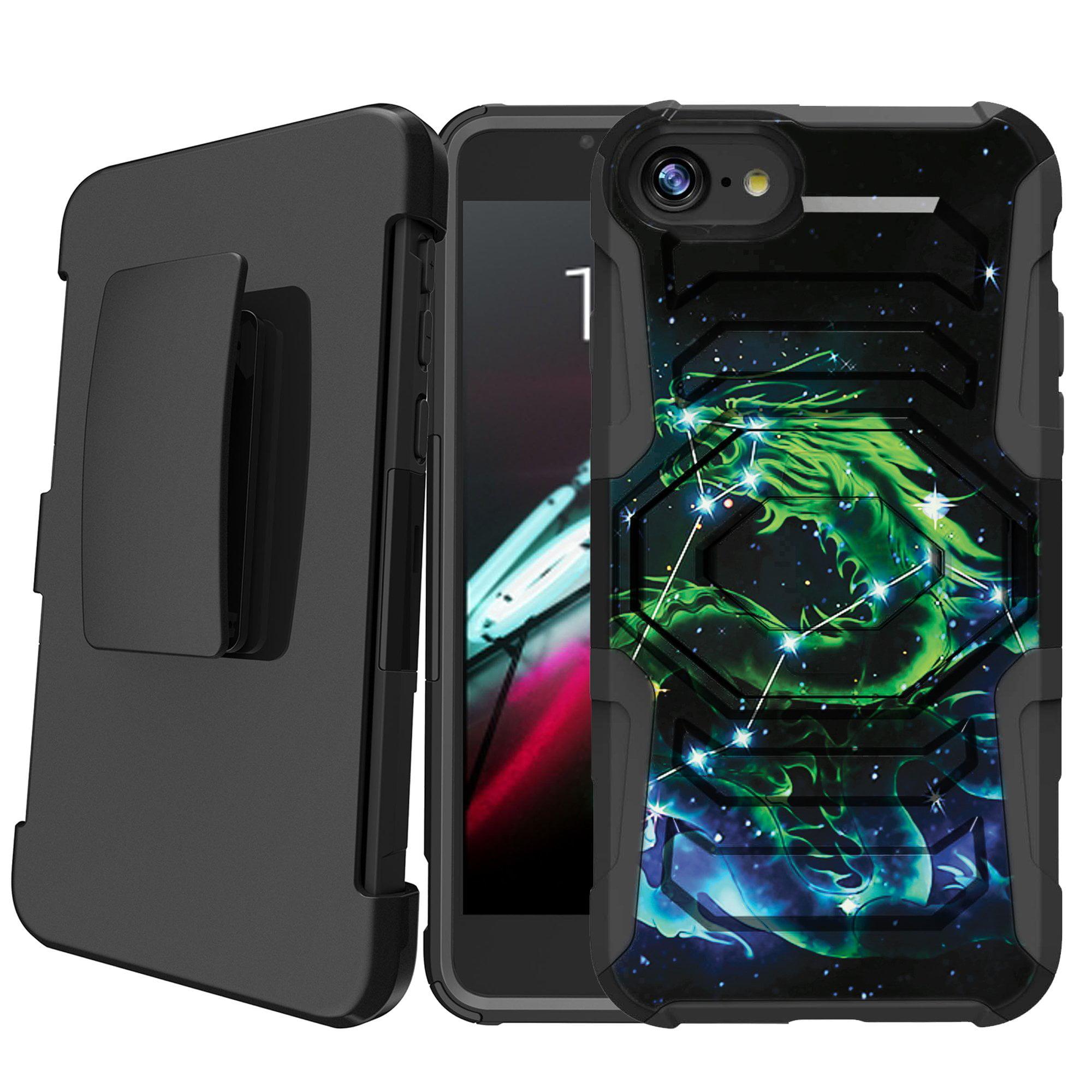 Apple iPhone 8   iPhone 8 2017 Holster Case [Galaxy Case][Galactic Design Series] w/ Built-In Kickstand + Bonus HolsterDragon Galaxy