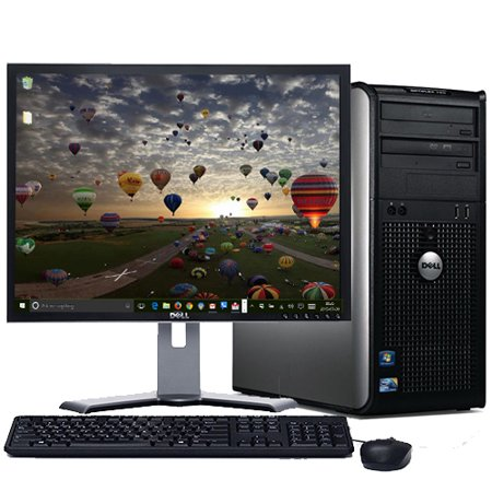 Dell Optiplex Windows 10 Professional Desktop Computer PC Intel Dual Core 8GB Ram 500GB Hard Drive DVD W/19