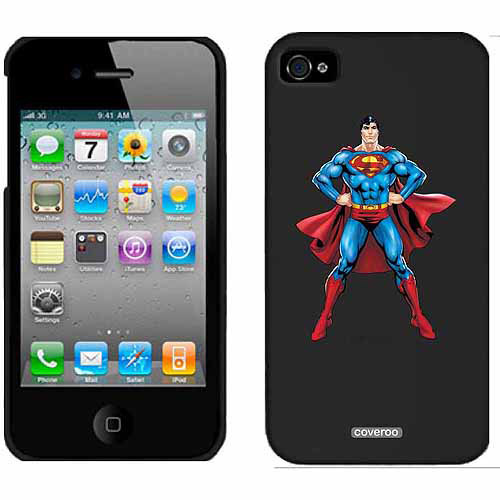 Superman Standing Design on Apple iPhone 4/4s Thinshield Snap-On Case by Coveroo