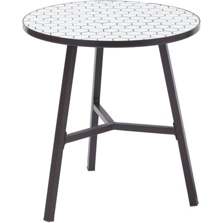 Better Homes And Gardens Camrose Farmhouse Outdoor Steel Bistro Table